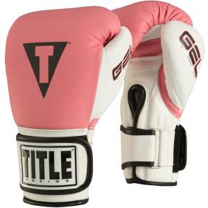 Title Boxing Gel World Bag Gloves - Pink