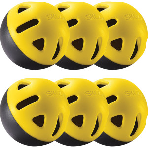 SKLZ Impact Practice Baseballs - Black/Yellow