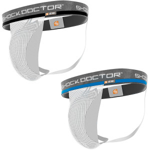 Shock Doctor Core Athletic Supporter with Cup Pocket - White