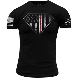 Grunt Style Nurse Line Crest T-Shirt - Black
