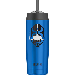 Thermos 18 oz. Insulated Cold Dome Water Bottle with Straw - Star Wars Episode 7