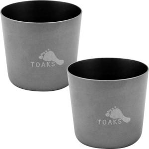 TOAKS Titanium 30ml Outdoor Camping Shot Glass - 2 Pack