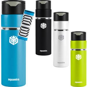 Aquamira 24 oz. Shift Stainless Steel Filter Water Bottle