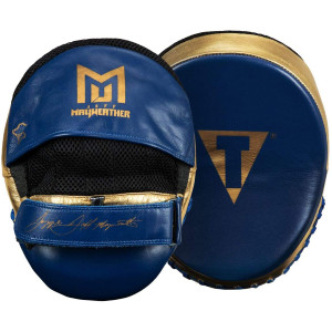 Title Boxing Jeff Mayweather's Doom Training Punch Mitts - Navy/Gold