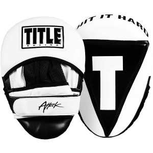 Title Boxing Attack Big-T Training Punch Mitts 2.0 - White/Black