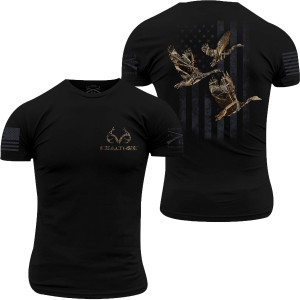 Grunt Style Realtree Max-5 - Goose Flag T-Shirt - Black