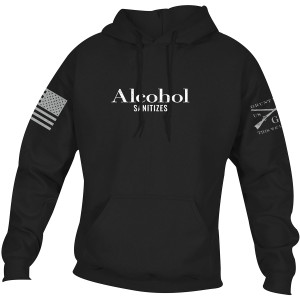 Grunt Style Alcohol Sanitizes Pullover Hoodie - Black