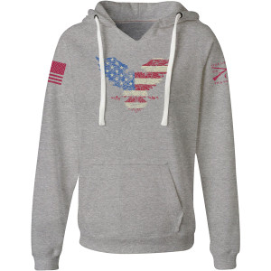 Grunt Style Women's Freagle Pullover Hoodie - Heather Gray