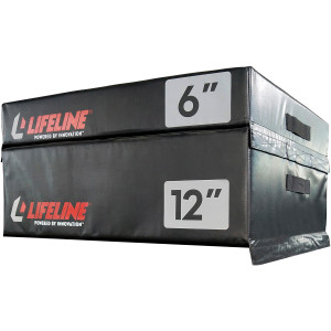 Lifeline USA Stacking Foam Plyometric Box - Black