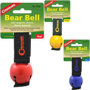 Coghlan's Bear Bell w/ Magnetic Silencer & Carry Strap, Hiking & Camping Safety