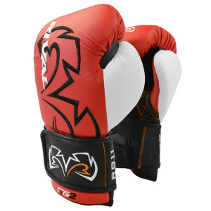 Rival Boxing Evolution Hook and Loop Bag Gloves - Red