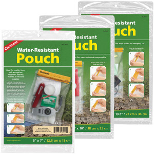 Coghlan's Water Resistant Pouch, Store Matches, Passports, Supplies, & First Aid