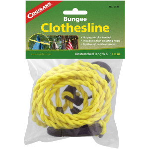 Coghlan's Bungee Clothesline Pegless with Carabiner, Laundry Drying Clothes Line