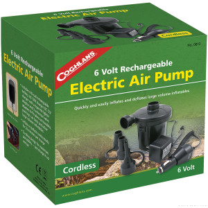 Coghlan's 6V Rechargeable Electric Air Pump, Cordless Inflatable Mattress Fill