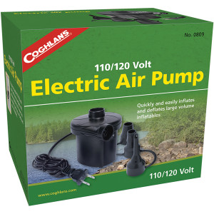 Coghlan's 110/120V Electric Air Pump Portable, Inflatable Bed Mattress Fill