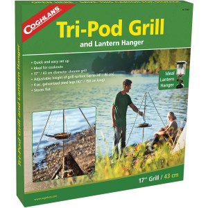 Coghlan's Tri-Pod Grill and Lantern Holder, Adjustable Height, Campfire Cookouts
