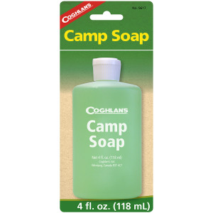 Coghlan's Camp Soap, 4 fluid ounces, Squeezable Bottle, Clean Dishes or Gear