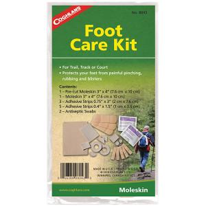 Coghlan's Foot Care Kit, Pre-cut Moleskin, Adhesive Strips & Antiseptic Swabs