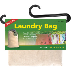 Coghlan's Laundry Bag, Washable 100% Natural Cotton, Drawstring w/ Cord-Lock