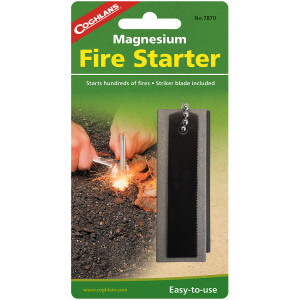 Coghlan's Magnesium Fire Starter, Emergency Survival Camp Strike Flint Camping