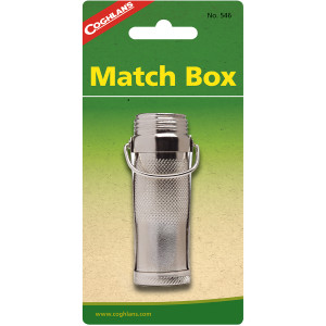 Coghlan's Match Box, Watertight Nickel Plated Holder, Waterproof Pocket Compact