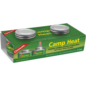 Coghlan's Camp Heat Emergency Cooking Fuel Can (2 Pack), Recloseable 4-6 hr Burn