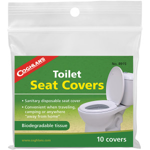 Coghlan's Toilet Seat Covers (10 Pack), Biodegradable Sanitary Disposable Tissue