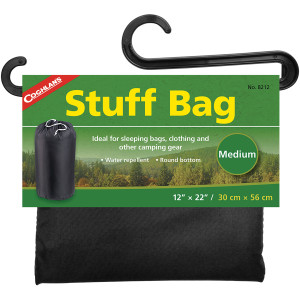 "Coghlan's Stuff Bag, 12"" x 22"", Sack Pouch Sleeping Camping Clothing Storage"
