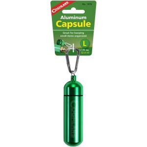 """Coghlan's Aluminum Capsule with Carabiner, Watertight Seal - Large 1.2 x 4.3 in"""""""