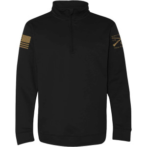 Grunt Style Basic Poly Quarter Zip Hoodie - Black