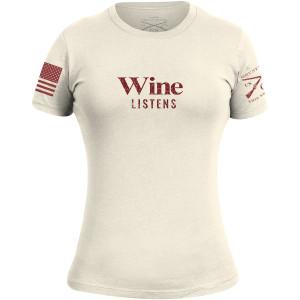 Grunt Style Women's Wine Listens T-Shirt - Natural