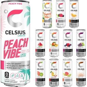 CELSIUS Zero Sugar Fitness Energy Drink - 12-Pack