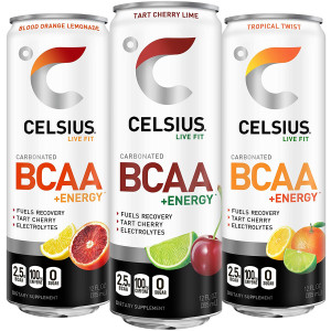 CELSIUS BCAA +Energy Zero Sugar Fitness Energy Drink - 12-Pack
