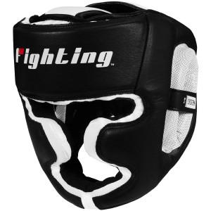 Fighting Sports S2 Gel Full Face Training Boxing Headgear - Black/White