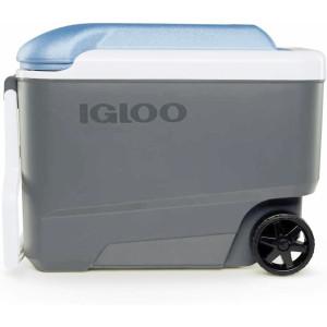IGLOO MaxCold 40 qt. Roller Hard Cooler - Jet Carbon/Ice Blue
