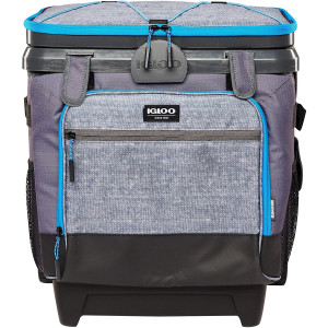 IGLOO MaxCold Cool Fusion 36-Can Roller Soft Cooler - Gray/Black