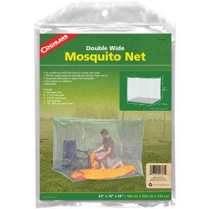 Coghlan's Double Wide Mosquito Net, White, Mesh Netting Protects from Insects