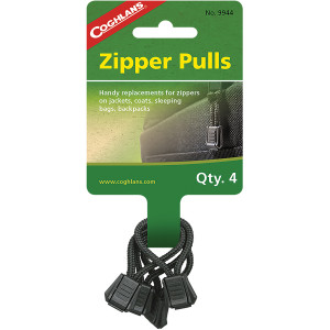 Coghlan's Zipper Pulls (4 Pack), Replacements for Jackets, Coats, Sleeping Bags