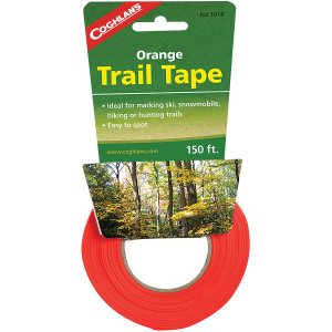 Coghlan's Orange Trail Tape 1 in x 150 ft, Bright Easy to See Marking Ribbon