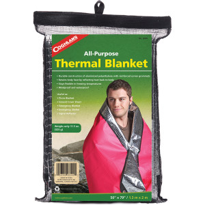 Coghlan's All-Purpose Thermal Blanket, Emergency Shelter Signal Reflector Sheet