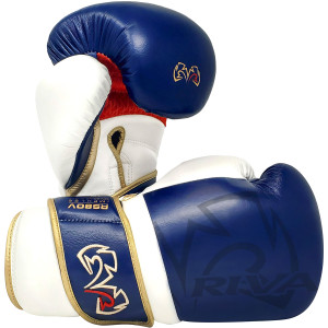 Rival Boxing RS80V Impulse Hook and Loop Sparring Gloves - Navy