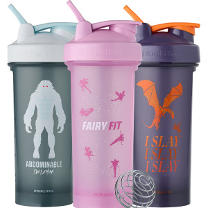 Blender Bottle Magical Creatures Classic 28 oz. Shaker Mixer Cup with Loop Top