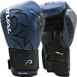 Rival Boxing RB11 Evolution Hook and Loop Bag Gloves - Navy/Black