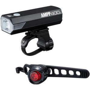 CatEye AMPP400 Bicycle Headlight and Orb Rear Light Combo Kit