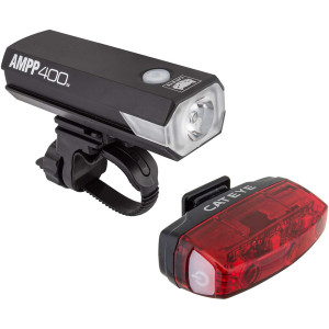 CatEye AMPP400 Bicycle Headlight and Rapid Micro Light Combo Kit