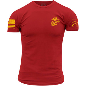 Grunt Style USMC - Corps Colors T-Shirt - Red