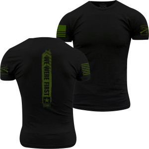 Grunt Style Army - We Were First T-Shirt - Green Ink