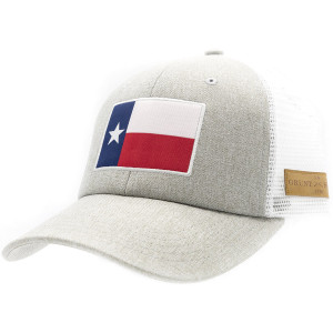 Grunt Style Texas Flag Heather Mesh Hat - Gray