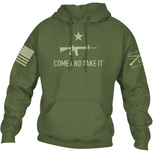 Grunt Style Come And Take It 2A Edition Pullover Hoodie - Military Green