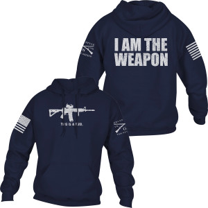 Grunt Style I Am The Weapon Pullover Hoodie - Navy